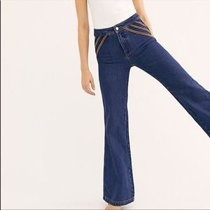 NEW Free People Over the Rainbow High Rise Jeans